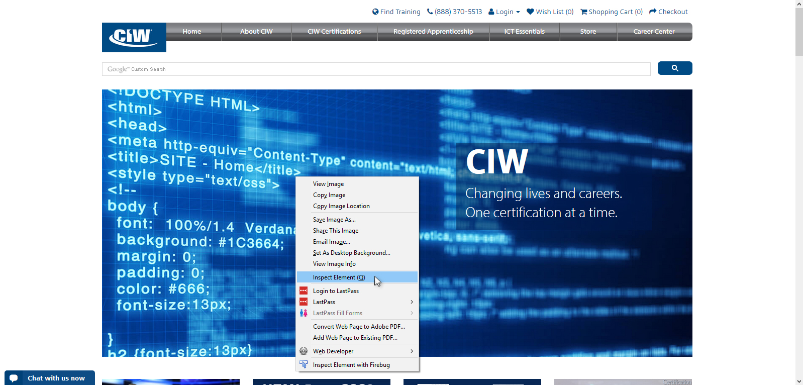 The code inspector an introduction ciw select inspect element from the pop up menu in firefox 1betcityfo Images