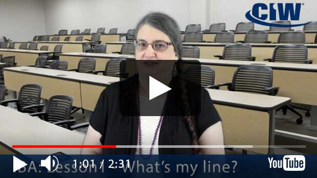 CIW Internet Business Associate Lesson 1: What's my Line?